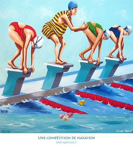 Une compétition de natation