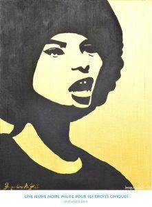 Une jeune noire milite pour ses droits civiques