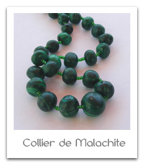 collier de malachite