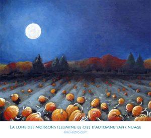 La lune des moissons illumine un ciel sans nuage