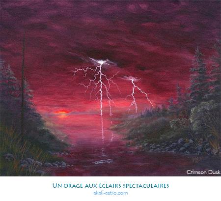 Un orage aux éclairs spectaculaires