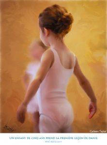 Un enfant de cinq ans prend sa première leçon de danse