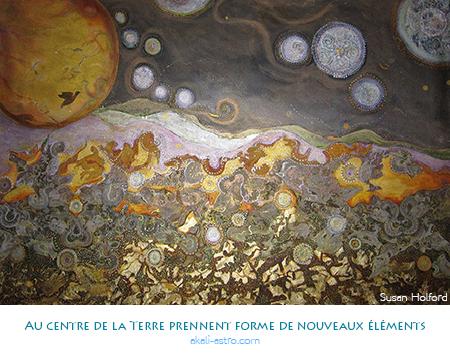 Au centre de la Terre prennent forme de nouveaux éléments