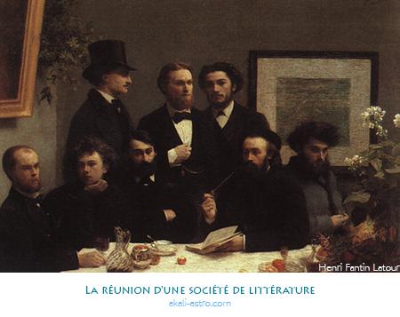 La réunion d'une société de littérature