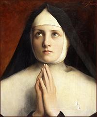 Une femme entre au couvent