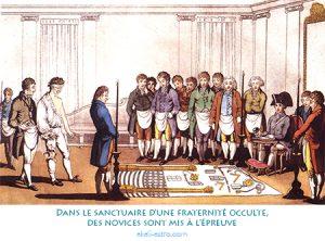 Dans le sanctuaire d'une fraternité occulte, des novices sont mis à l'épreuve