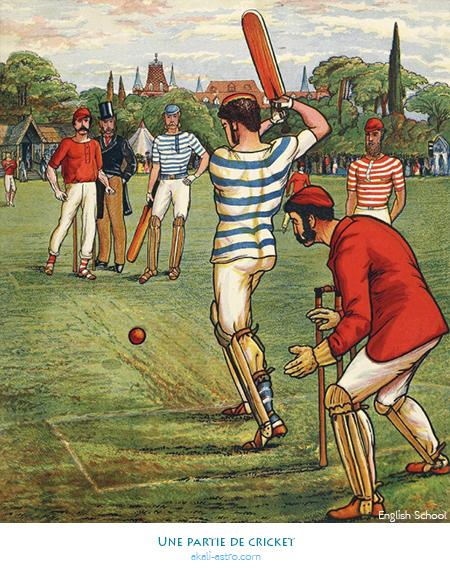 Une partie de cricket