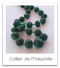 collier de malachite