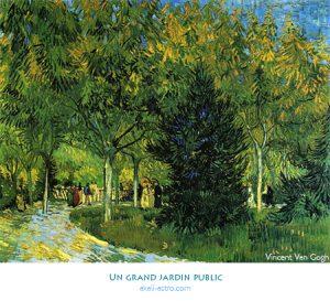 Un grand jardin public