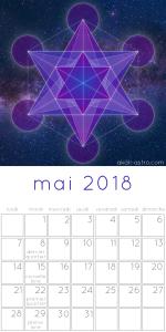 Calendrier des lunaisons mai 2018