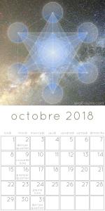 Calendrier des lunaisons octobre 2018