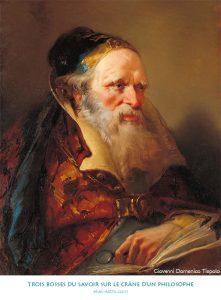 Trois bosses du savoir sur le crâne d'un philosophe