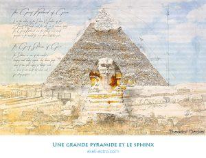 Une grande pyramide et le sphinx