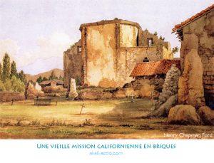 Une vieille mission californienne en briques